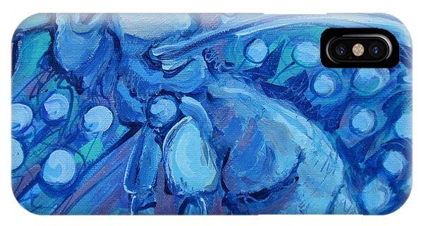Bee Blue IPhone Case