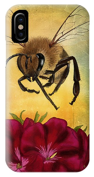 Honeybee iPhone X Case - Bee I by April Moen