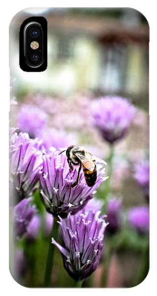 Bee In The Chives Phone Case by Joel Loftus