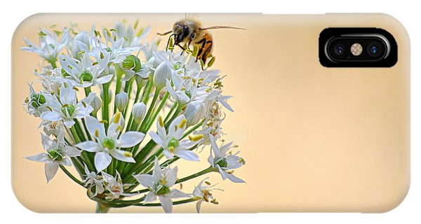 Bee In The Garlic Chives IPhone Case