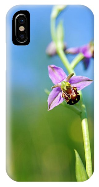 Bee Orchid Flower Phone Case by Alex Hyde