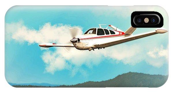Beechcraft Bonanza V Tail Red IPhone Case