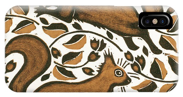 Equal iPhone Case - Beechnut Squirrels by Nat Morley