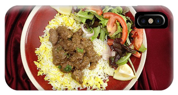 Beef Rogan Josh Meal From Above IPhone Case