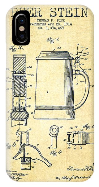 Beer Stein Patent From 1914 -vintage IPhone Case