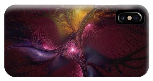Fractal Landscape iPhone Case - Before Dawn-fractal Art by Karin Kuhlmann