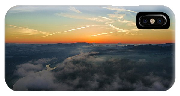 Before Sunrise On The Lilienstein IPhone Case