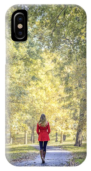 New Leaf iPhone Case - Before The Last Leaf Falls by Evelina Kremsdorf