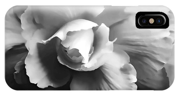 Begonia Flower Monochrome IPhone Case