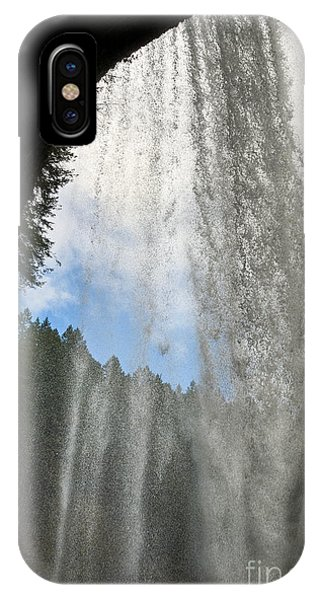 Behind The Curtain -  Lower South Waterfall In Silver Falls Stat IPhone Case