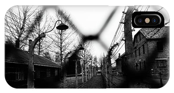 Germany iPhone Case - Behind The Fences - Auschwitz I by Javier Palacios Prieto