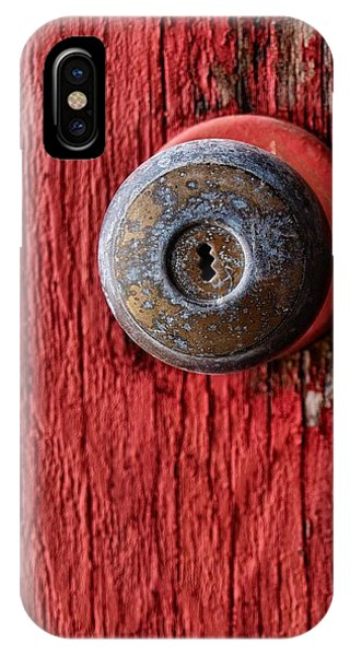 Rockford iPhone Case - Behind The Red Door by Tom Druin