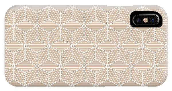 Seamless iPhone Case - Beige Color Seamless Texture Of Cubes by Mademoiselle De Erotic