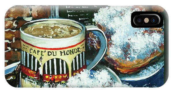 Beignets And Cafe Au Lait IPhone Case
