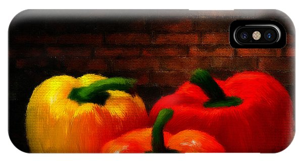 Ingredient iPhone Case - Bell Peppers by Lourry Legarde