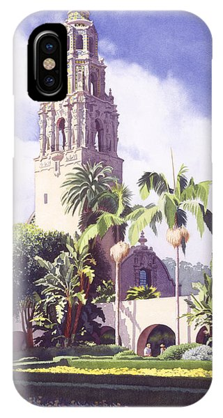 Bell Tower In Balboa Park IPhone Case