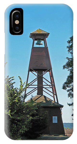 Port Townsend iPhone Case - Bell Tower In Port Townsend  by Connie Fox