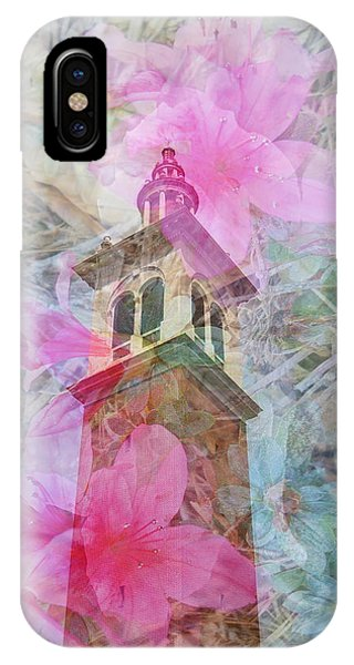 IPhone Case featuring the photograph Bell Tower Wrapped In Spring by Judy Hall-Folde