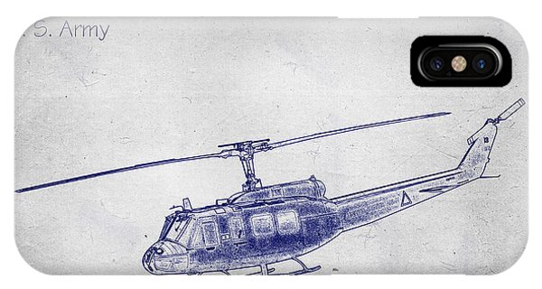 Bell Uh-1h Huey Helicopter  IPhone Case