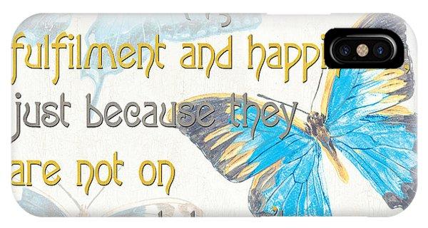 Verse iPhone Case - Bella Butterflies 2 by Debbie DeWitt