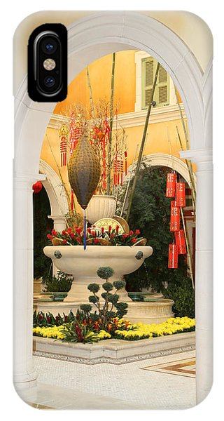 IPhone Case featuring the photograph Bellagio Chinese Display by Michael Hope