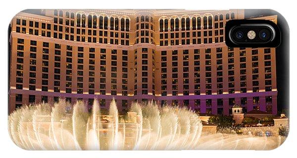 Bellagio Hotel And Casino Fountain  IPhone Case