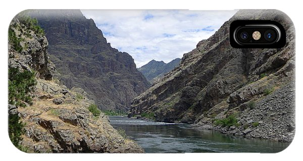 Below Hells Canyon Dam IPhone Case