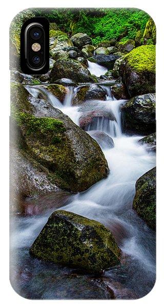 Waterfall iPhone Case - Below Rainier by Chad Dutson