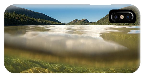 Michael iPhone Case - Below The Surface Of Jordan Pond by Michael Ver Sprill