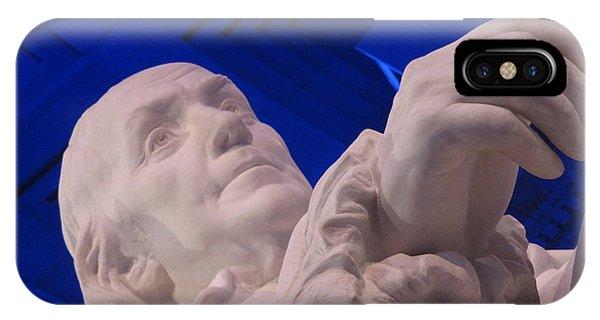 Ben Franklin In Blue I IPhone Case