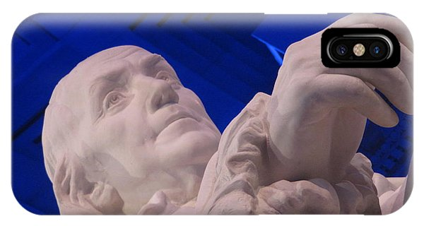 IPhone Case featuring the photograph Ben Franklin In Blue I by Richard Reeve