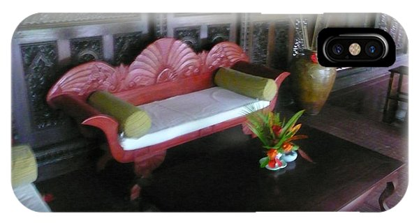 Bench In Bali Phone Case by Jack Edson Adams