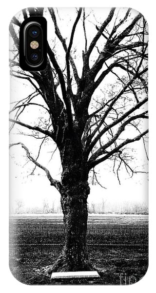 Bench In Cold Winter IPhone Case