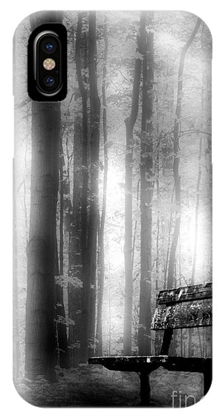 Bench In Michigan Woods IPhone Case