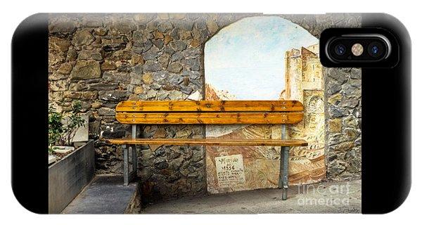 Bench In Riomaggiore IPhone Case