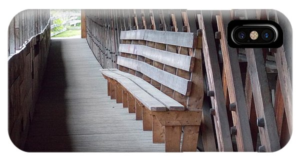 Bench Inside A Covered Bridge IPhone Case