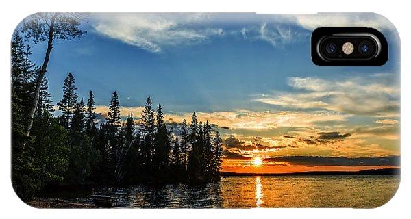 iPhone Case - Beautiful Sunset At Waskesiu Lake by Viktor Birkus