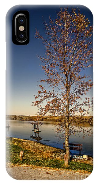 iPhone Case - Lonely Friends - Bench And Tree by Viktor Birkus