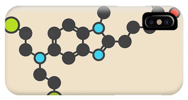 Chronic iPhone Case - Bendamustine Cancer Drug Molecule by Molekuul