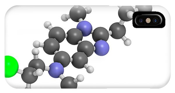 Chronic iPhone Case - Bendamustine Chemotherapy Drug Molecule by Molekuul