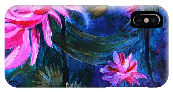 Beneath Dark Lotus Waters IPhone Case