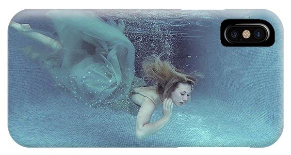 Dive iPhone Case - Beneath The Blue by Karen Jones
