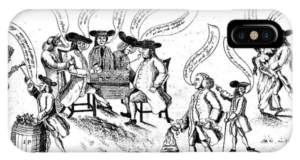 Benjamin Franklin Cartoon IPhone Case