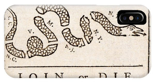 Benjamin Franklin's Join Or Die Cartoon IPhone Case