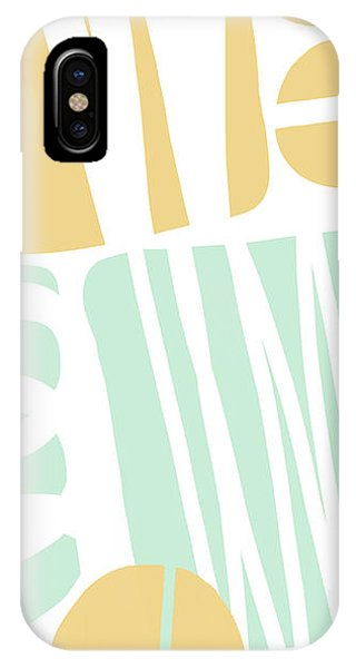 Aqua iPhone Case - Bento 1- Abstract Shape Painting by Linda Woods