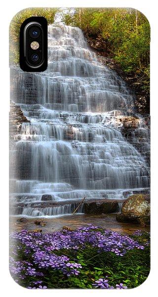 Chilhowee iPhone Case - Benton Falls In Spring by Debra and Dave Vanderlaan