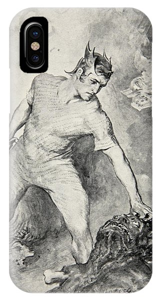 Bacon iPhone Case - Beowulf Shears Off The Head Of Grendel by John Henry Frederick Bacon