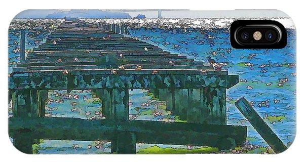 Berkeley Marina Pier Study 2 IPhone Case