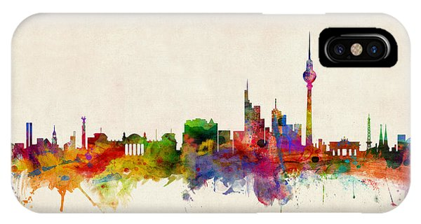 Skyline iPhone Case - Berlin City Skyline by Michael Tompsett