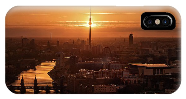 Panorama iPhone Case - Berlin - Eclipse by Jean Claude Castor
